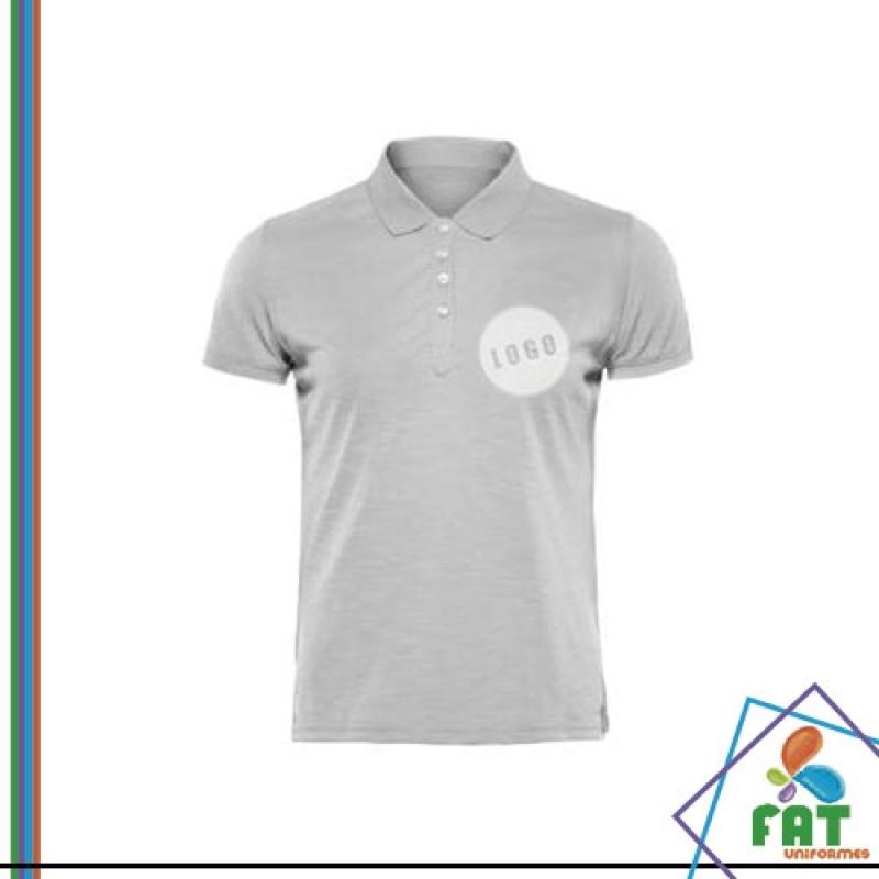 Camisa Polo Feminina Branca - Arte Uniformes 1763120ae41ec