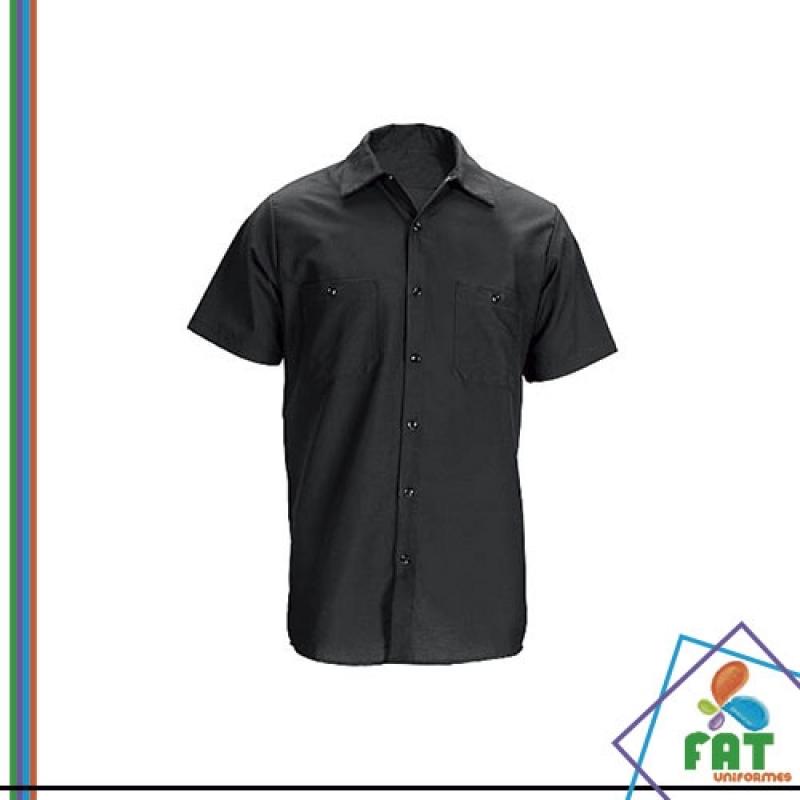 Camisa Uniforme Social Masculino Lapa - Uniforme Social Masculino com Logomarca