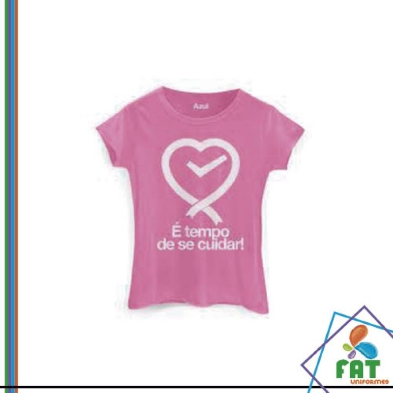 Camiseta Estampada Preço São Domingos - Camiseta Personalizada