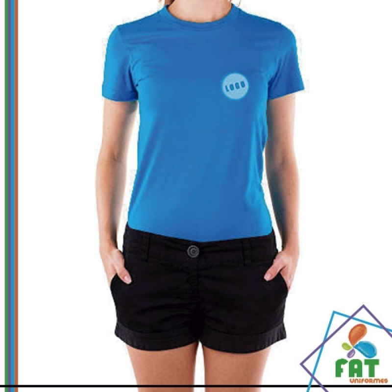 Camiseta para Estampar Atacado Higienópolis - Camiseta Personalizada Uniforme