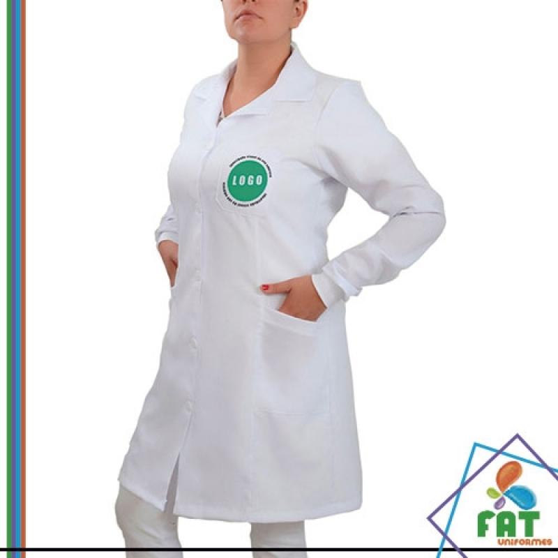 Jaleco Branco Feminino Preço Brooklin - Jaleco Dentista