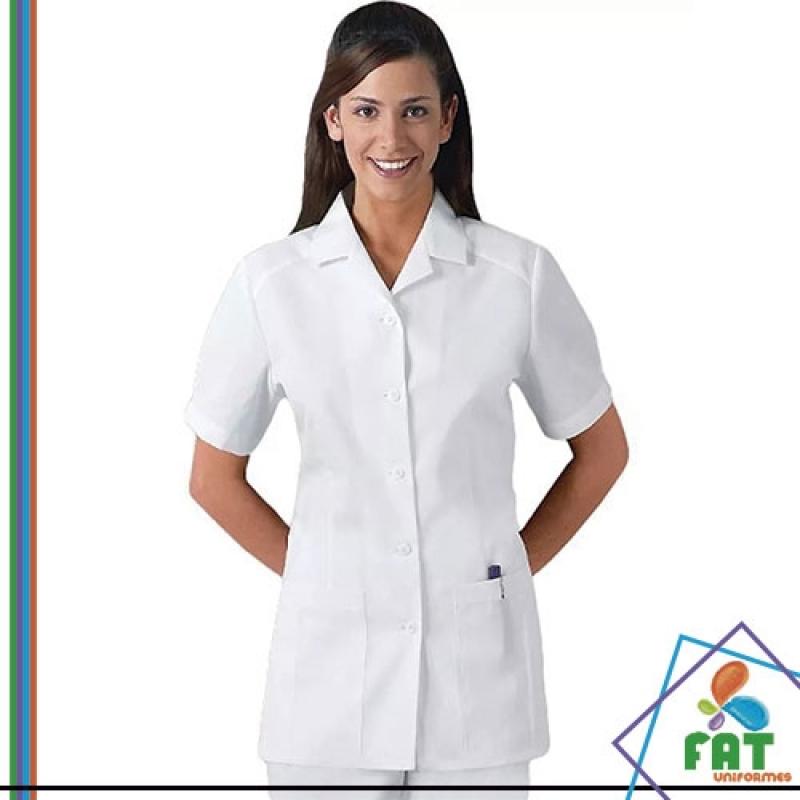 Jaleco Branco Feminino Freguesia do Ó - Jaleco Personalizado