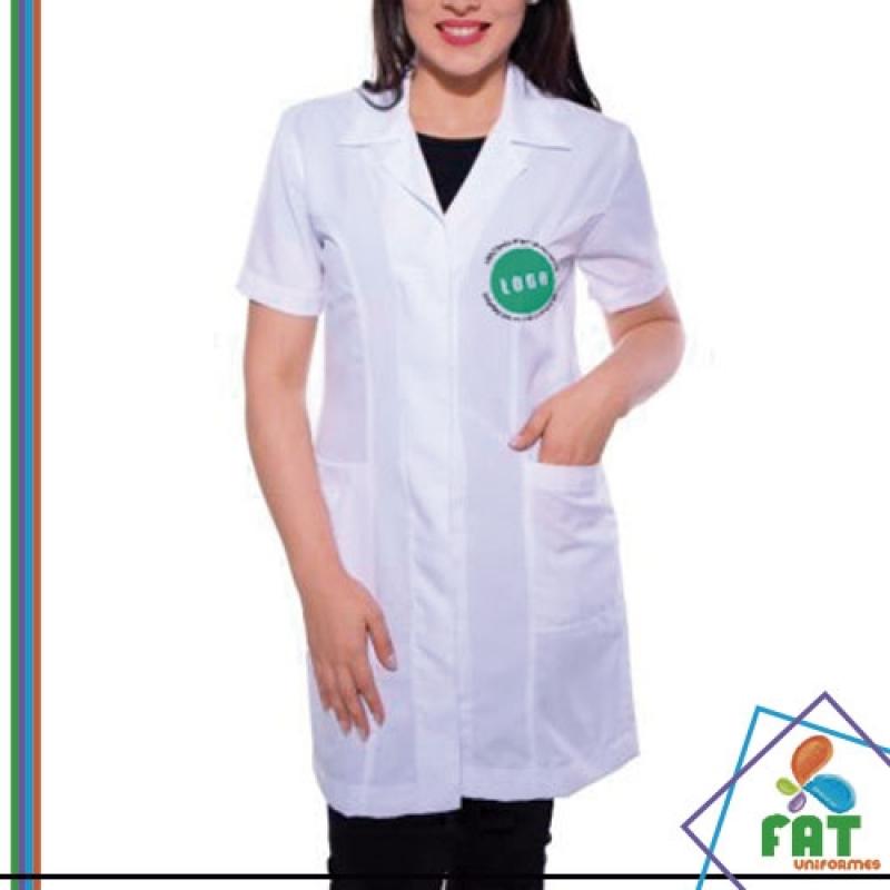 Jaleco Personalizado com Logo Preço Mooca - Jaleco Personalizado