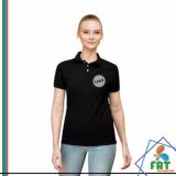 camisa polo feminina branca Balneário Mar Paulista
